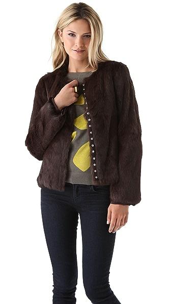 Diane von Furstenberg Marchie Rabbit Fur Coat