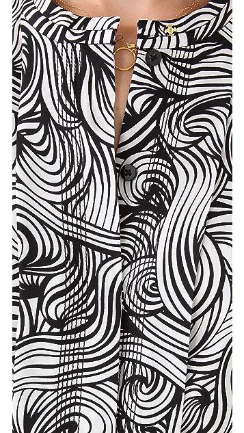 Diane von Furstenberg Atira Printed Blouse