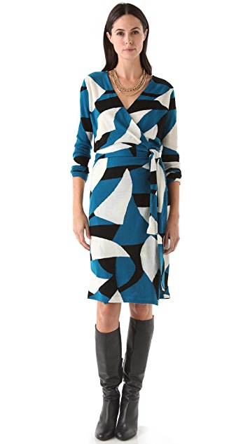 Diane von Furstenberg Richley Tiger Ribbon Dress
