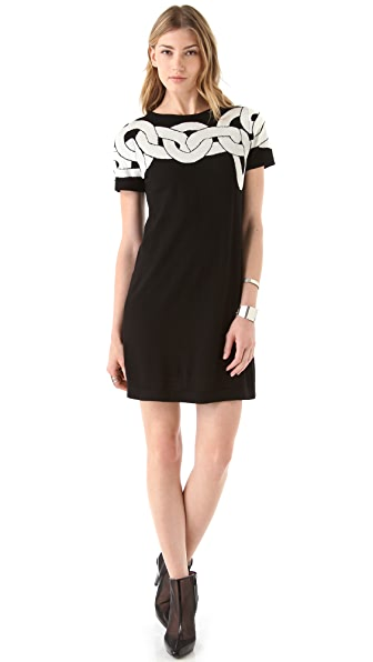 Diane von Furstenberg Kivel Chain Sweater Dress
