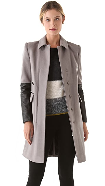 Diane von Furstenberg Sterling Wool Coat