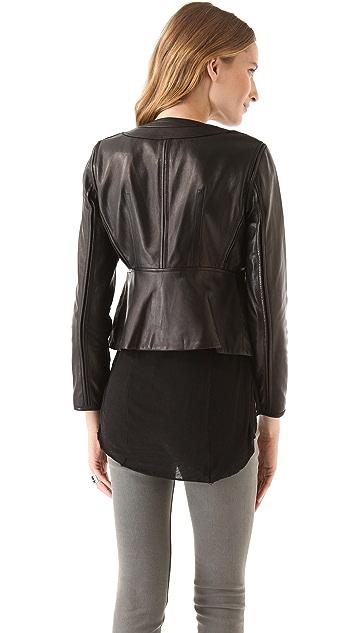 Diane von Furstenberg Maya Leather Jacket