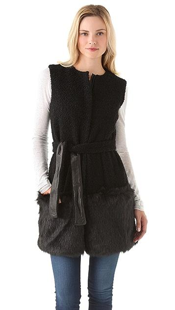 Diane von Furstenberg Gami Faux Fur Vest