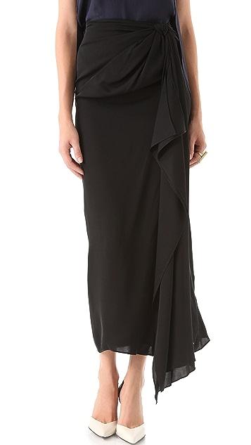 Diane von Furstenberg Copa Tie Up Skirt