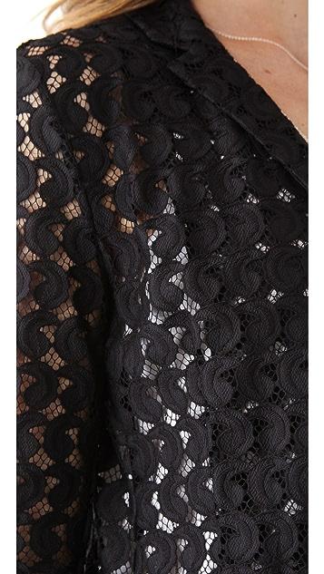 Diane von Furstenberg Vintage Paisley Lace Blazer