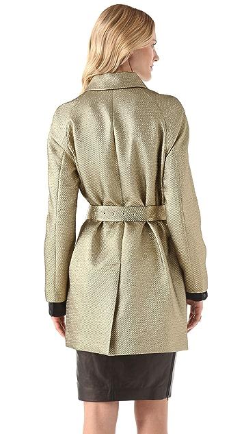 Diane von Furstenberg Yvette Metallic Trench Coat