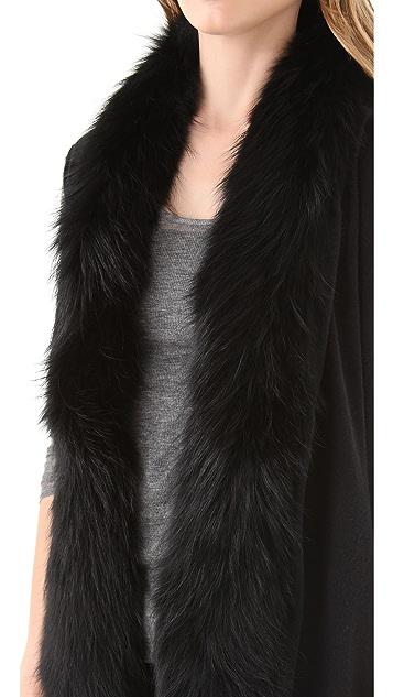 Diane von Furstenberg Didi Serape Fur Scarf Vest