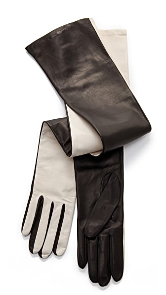 Diane von Furstenberg Two Tone Gloves