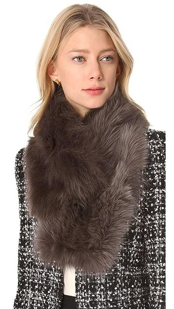 Diane von Furstenberg Fox Fur Collar Scarf