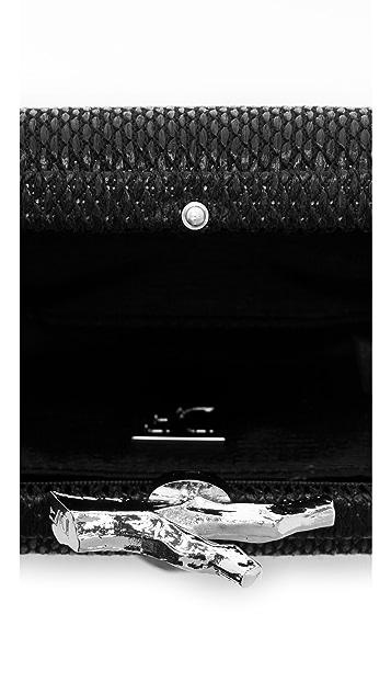Diane von Furstenberg Lytton Small Raffia Clutch
