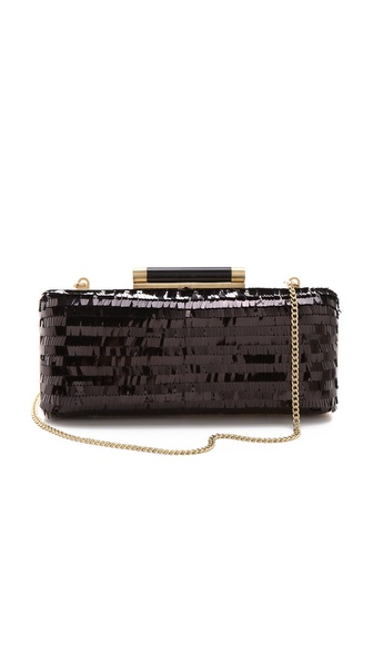Diane von Furstenberg Tonda Large Clutch with Eyelash Sequins