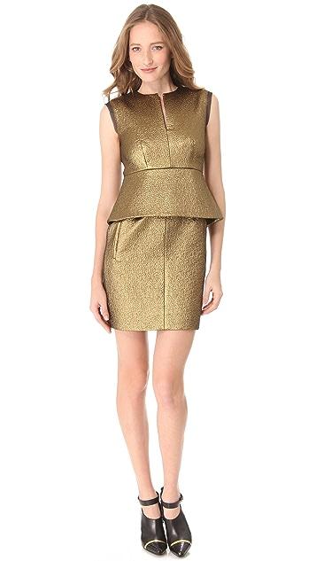 Diane von Furstenberg Delian Clean Jacquard Dress