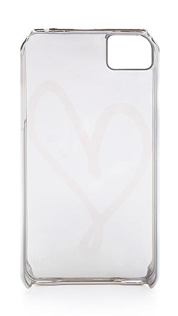 Diane von Furstenberg Metallic Single Heart iPhone 4 Case