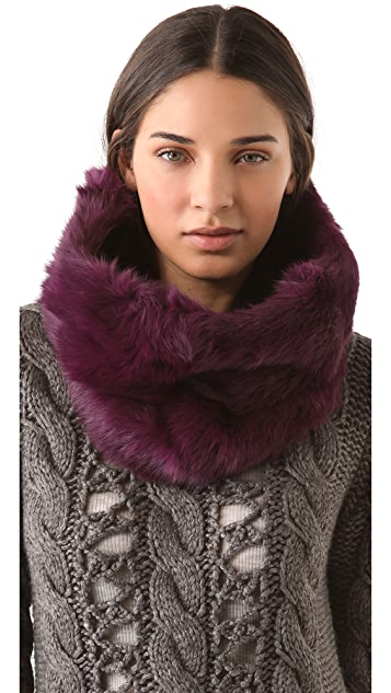 Diane von Furstenberg Rabbit Fur Snood