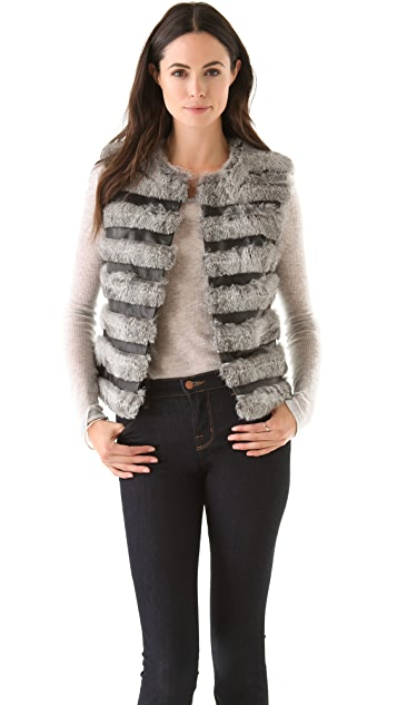 Diane von Furstenberg Neo Fur Vest