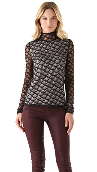 Diane von Furstenberg Surya Fan Lace Top
