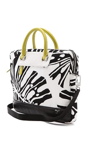 Diane von Furstenberg Printed Canvas Laptop Bag