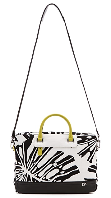 Diane von Furstenberg Printed Canvas Laptop Bag