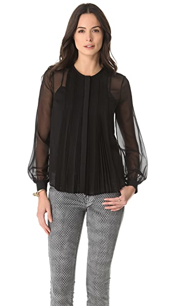 Diane von Furstenberg Fannie Pleated Blouse