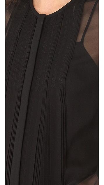 Diane von Furstenberg Fannie Pleated Blouse