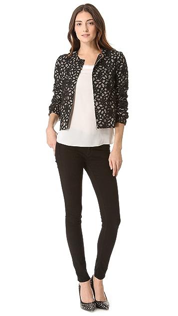 Diane von Furstenberg Zandy Lace Bomber Jacket