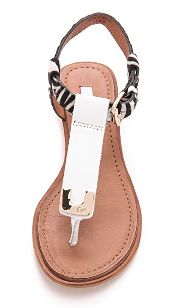 Diane von Furstenberg Dion Demi Wedge Sandals