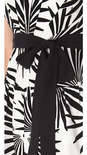 Diane von Furstenberg Velvet Jacquard Yarra Dress