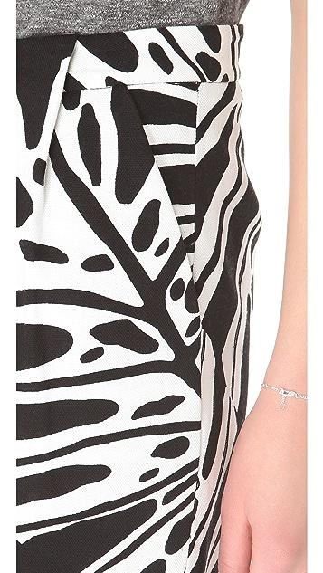 Diane von Furstenberg Melissa Canvas Skirt