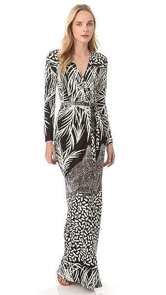 Diane von Furstenberg Georgina Maxi Wrap Dress