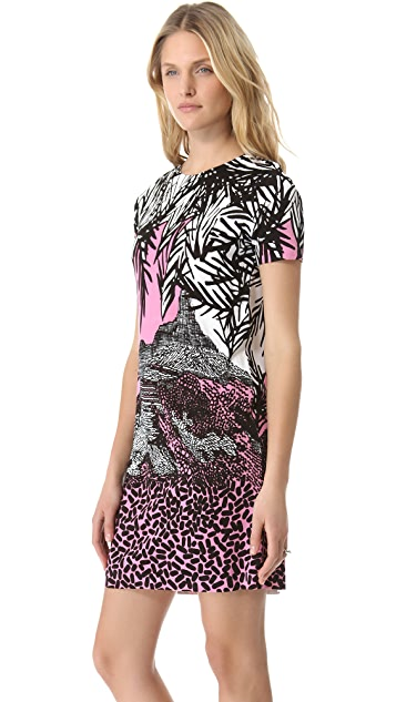 Diane von Furstenberg Short Sleeve Kivel Dress