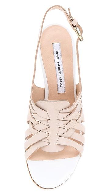 Diane von Furstenberg Taite Slingback Sandals