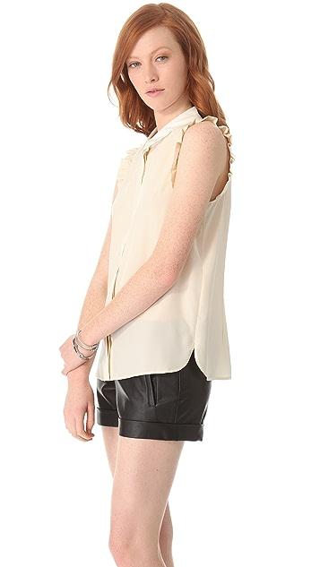 Diane von Furstenberg Caldwell Ruffle Collar Top