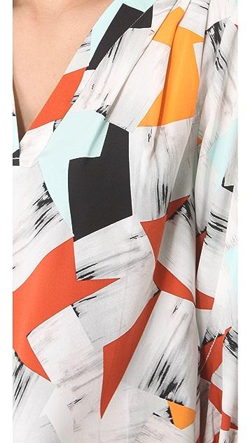 Diane von Furstenberg New Cahil Printed Blouse