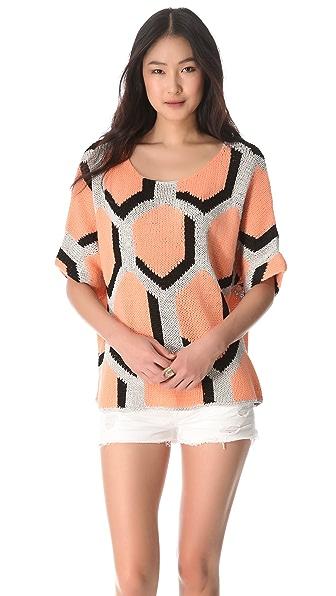 Diane von Furstenberg Cici Hexagon Sweater