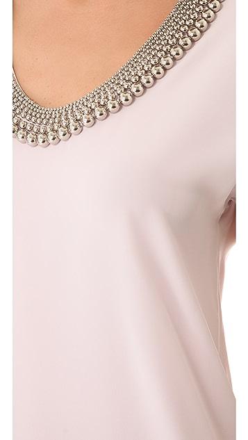 Diane von Furstenberg Acedia Silver Ball Top