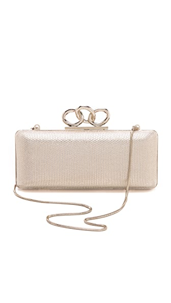Diane von Furstenberg Sutra Metallic Canvas Clutch