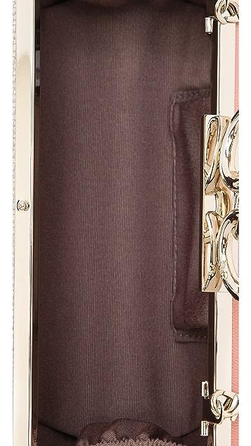 Diane von Furstenberg Sutra Metallic Canvas Clutch