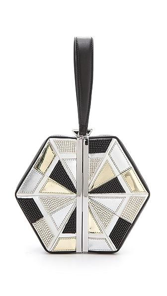 Diane von Furstenberg Diamond Box Clutch