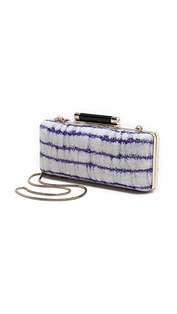 Diane von Furstenberg Tonda Striped Sequin Clutch