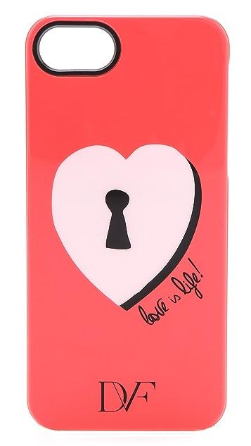 Diane von Furstenberg Lock Heart iPhone 5 Case