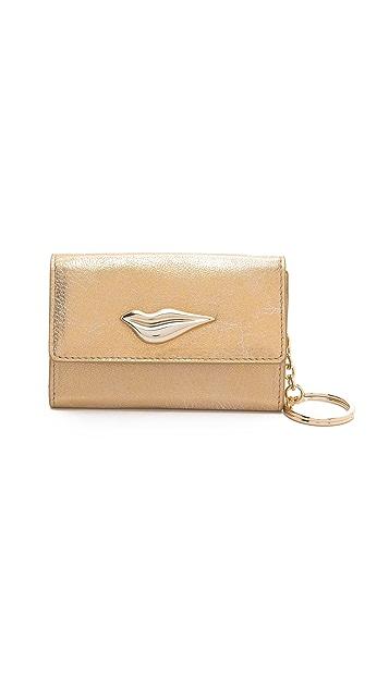 Diane von Furstenberg Lips Metallic Card Wallet