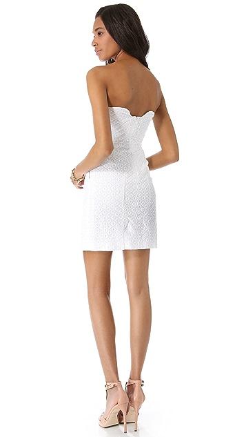 Diane von Furstenberg Sahara Eyelet Strapless Dress