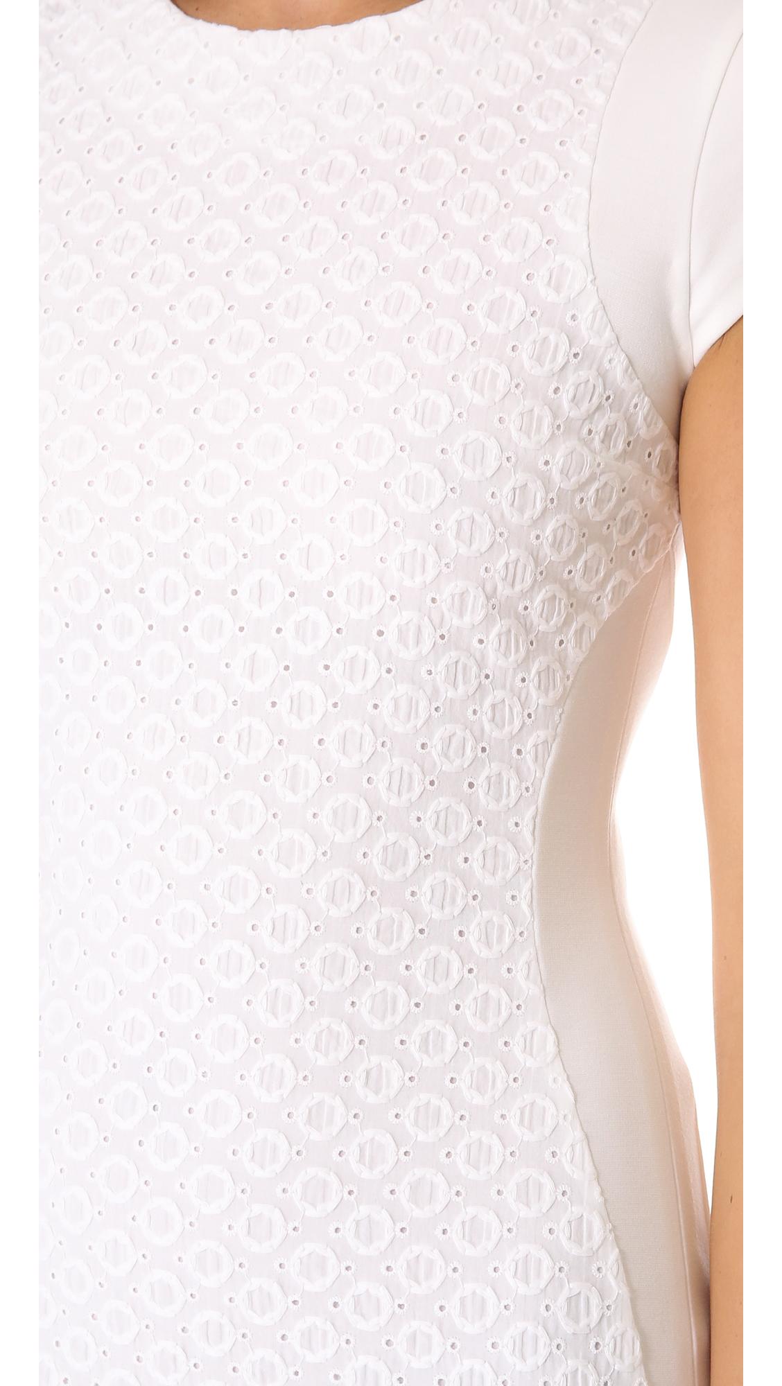 Dvf white eyelet dress