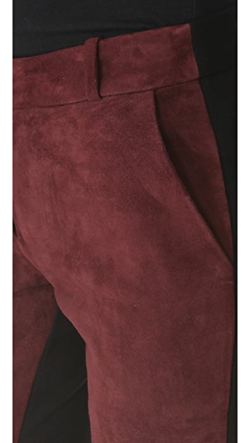 Diane von Furstenberg Cecily Combo Suede Pants