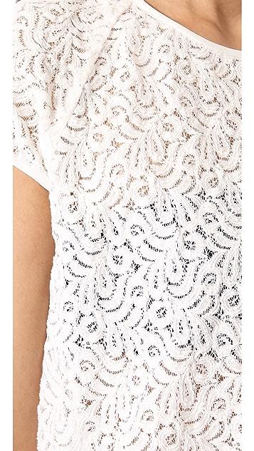Diane von Furstenberg Liva Leaf Lace Top