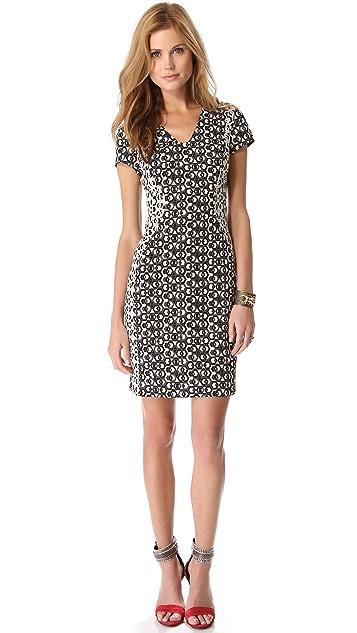 Diane von Furstenberg Dayton Hex Maze Dress