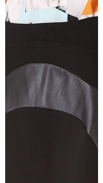 Diane von Furstenberg Tristana Leather Skirt