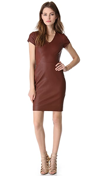 Diane von Furstenberg Teala Leather Dress