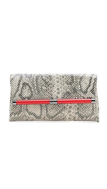 Diane von Furstenberg 440 Envelope Python Clutch