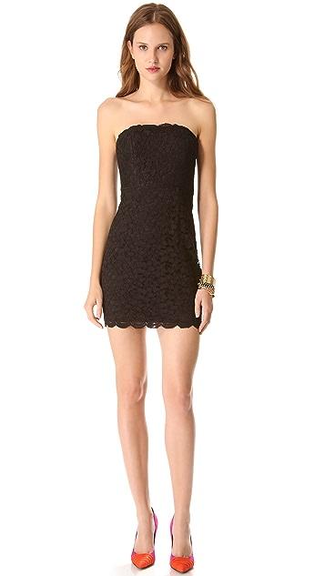 Diane von Furstenberg Walker Lace Strapless Dress